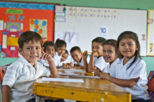 kindergarten students in Honduras