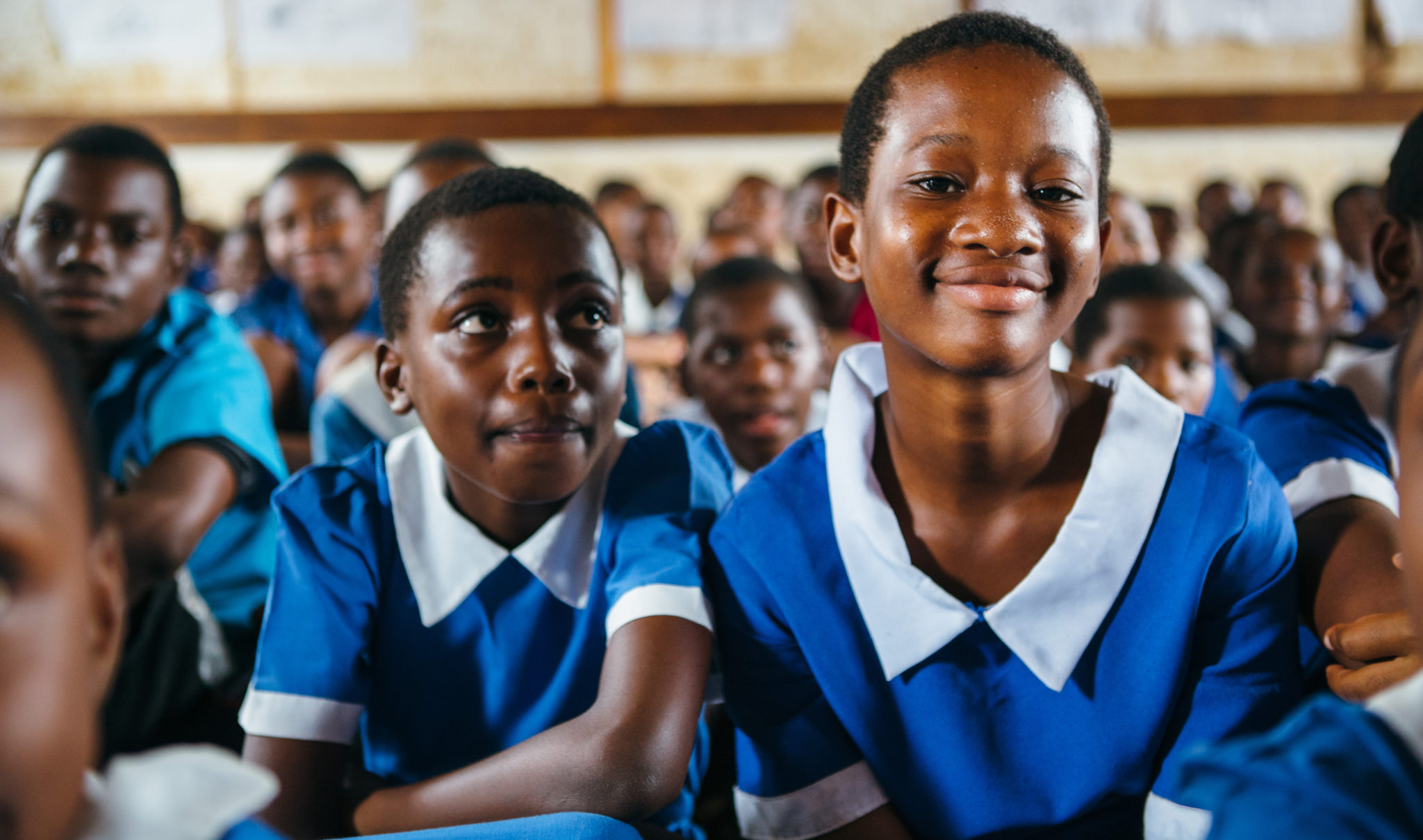 school kids smiling | This is the Impact of Good Hygiene | Water For People