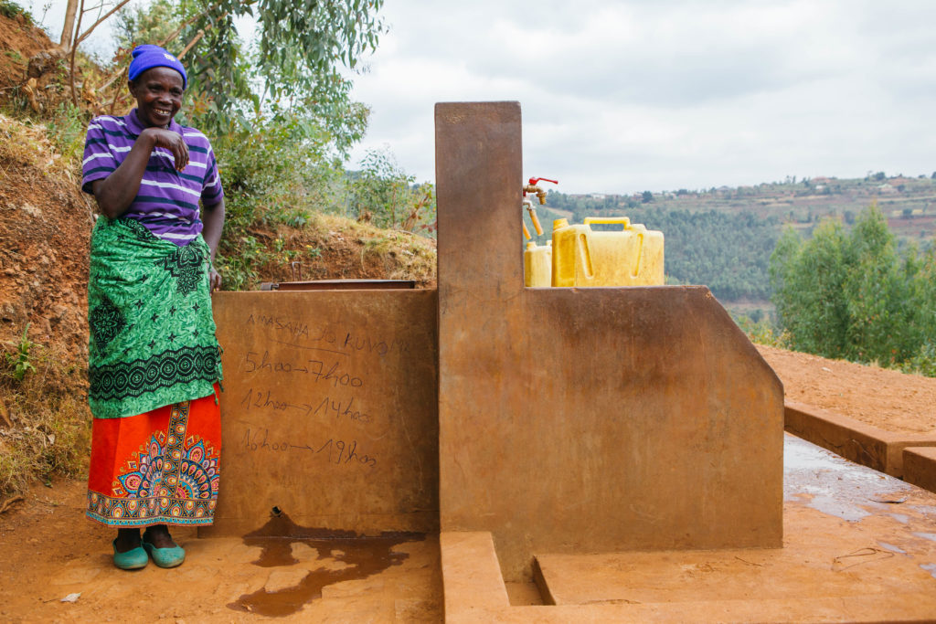 Didacienne had five children and no home of her own. Her husband died nearly 25 years ago in the Rwandan genocide, and after that she had few options to provide for her family – they lived with various family members to get by. And without water in their village, life was difficult.