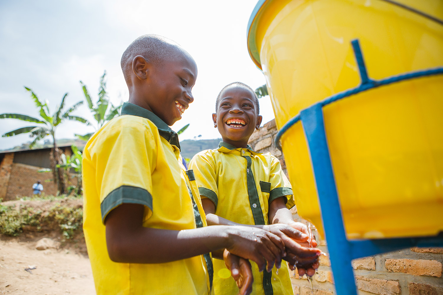 children washing their hands | Clean Water in Rwanda | Where We Work | Water For People