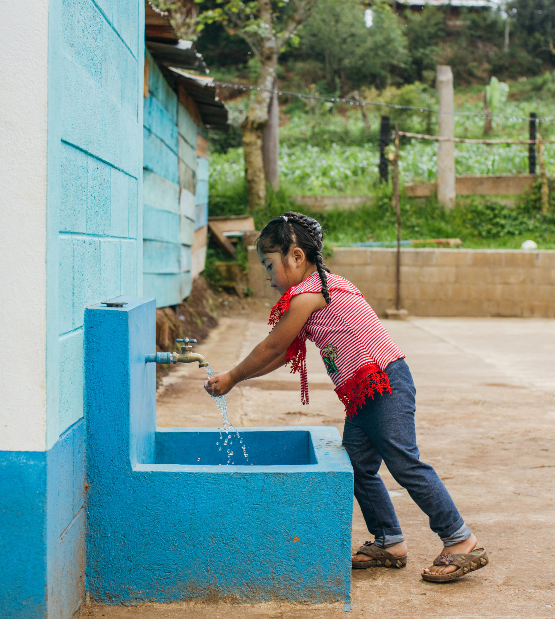 little girl washing her hands | Water For People Events | Events & Tours | Water For People